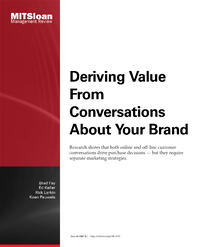 Deriving Value From Conversations About Your Brand cover